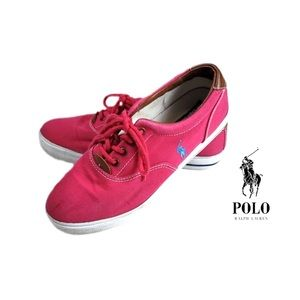 Polo Ralph Lauren | Pink Canvas Vaughn Sneakers
